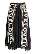 Wrapover beaded skirt - Black - Ladies | H&M 2