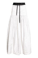 Crinkled twill skirt - White - Ladies | H&M CN 1