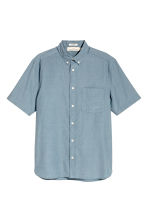 Short-sleeve shirt Regular fit - Grey-blue - Men | H&M 2
