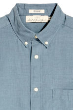 Short-sleeve shirt Regular fit - Grey-blue - Men | H&M CN 3
