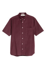 Short-sleeve shirt Regular fit - Burgundy - Men | H&M 2