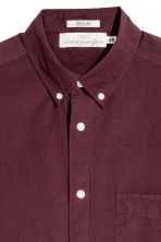 Short-sleeve shirt Regular fit - Burgundy - Men | H&M 3