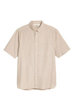 Short-sleeve shirt Regular fit - Beige - Men | H&M CN 2