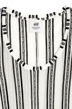 Silk top - White/Black striped - Ladies | H&M CN 2