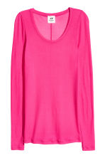 Silk top - Cerise - Ladies | H&M CN 1