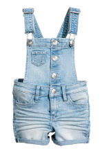 Dungaree shorts - Light denim blue - Kids | H&M 1