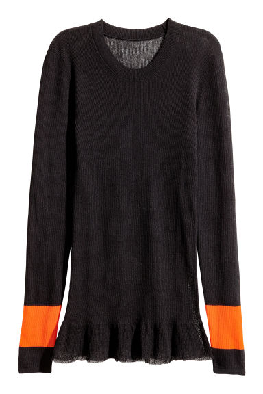 Fine-knit jumper - Black - Ladies | H&M CN 1