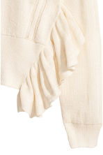 Textured cotton jumper - Natural white - Ladies | H&M CN 2