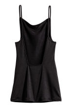Fitted strappy top - Black -  | H&M CA 2