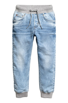 Joggers in denim Super Soft