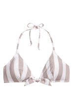 Bikini top - Mole/White/Striped - Ladies | H&M 2