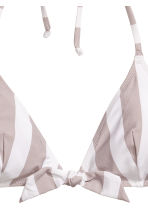 Bikini top - Mole/White/Striped - Ladies | H&M 3