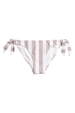 Tie tanga bikini bottoms - Mole/White/Striped - Ladies | H&M 2