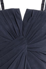 Draped bandeau dress - Dark blue - Ladies | H&M 3