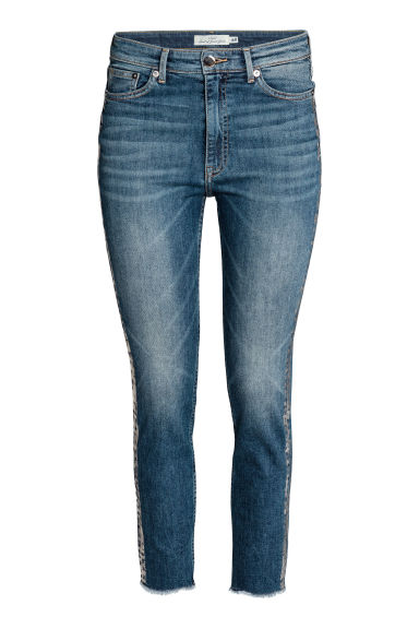 Slim High Ankle Jeans - Denimblauw/zilverkleurig - DAMES | H&M BE
