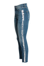 Slim High Ankle Jeans - Denim blue/Silver - Ladies | H&M CA 2