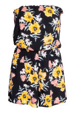 Strapless playsuit - Black/Floral - Ladies | H&M 2