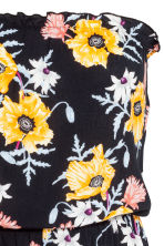 Strapless playsuit - Black/Floral - Ladies | H&M 3