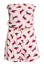 Strapless playsuit - Light pink/Tiger - Ladies | H&M CN 2