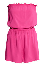 Strapless playsuit - Cerise - Ladies | H&M CA 2