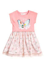 Dress with a tulle skirt - Pink/Frozen - Kids | H&M CN 2