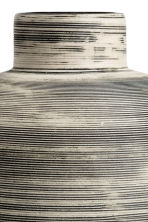 Large stoneware vase - White/Black striped - Home All | H&M CN 2
