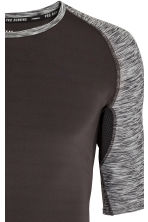 Short-sleeved running top - Black - Men | H&M 4