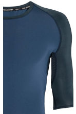 Short-sleeved running top - Dark blue - Men | H&M 3