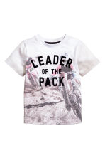 Printed T-shirt - White/Motorbike - Kids | H&M 2