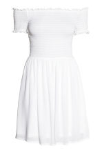 Dress with smocking - White - Ladies | H&M 2