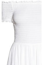 Dress with smocking - White - Ladies | H&M 3