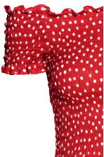 Dress with smocking - Red/Spotted - Ladies | H&M 3