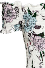 Dress with smocking - White/Floral - Ladies | H&M 3