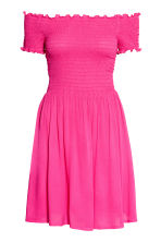 Dress with smocking - Cerise - Ladies | H&M CN 2