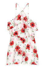 Flounced playsuit - Natural white/Floral - Ladies | H&M 2