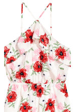 Flounced playsuit - Natural white/Floral - Ladies | H&M 3