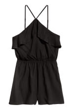 Flounced playsuit - Black - Ladies | H&M CN 2