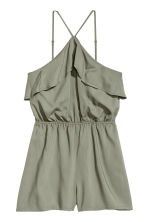 Flounced playsuit - Khaki green - Ladies | H&M 2