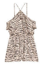 Flounced playsuit - Beige/Patterned - Ladies | H&M CN 2