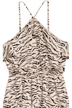 Flounced playsuit - Beige/Patterned - Ladies | H&M CN 3