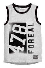 Printed vest top - Light grey marl - Kids | H&M 2