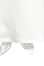 Tie-detail top - White - Ladies | H&M CN 3