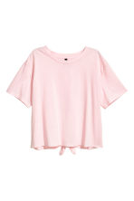 Tie-detail top - Light pink - Ladies | H&M CN 2