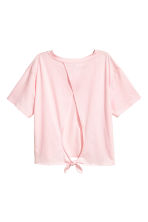 Tie-detail top - Light pink - Ladies | H&M CN 3
