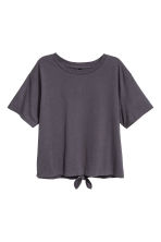 Tie-detail top - Dark grey - Ladies | H&M 2