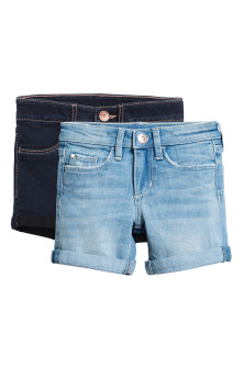 2-pack denim shorts