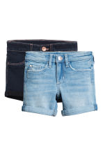 2-pack denim shorts - Denim blue/Dark denim blue -  | H&M 2