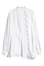Wide tunic - White - Ladies | H&M CN 2