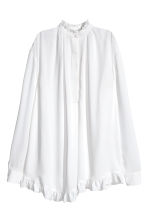 Wide tunic - White - Ladies | H&M CN 1
