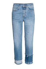 Straight High Cropped Jeans - Bleu denim - FEMME | H&M BE 2